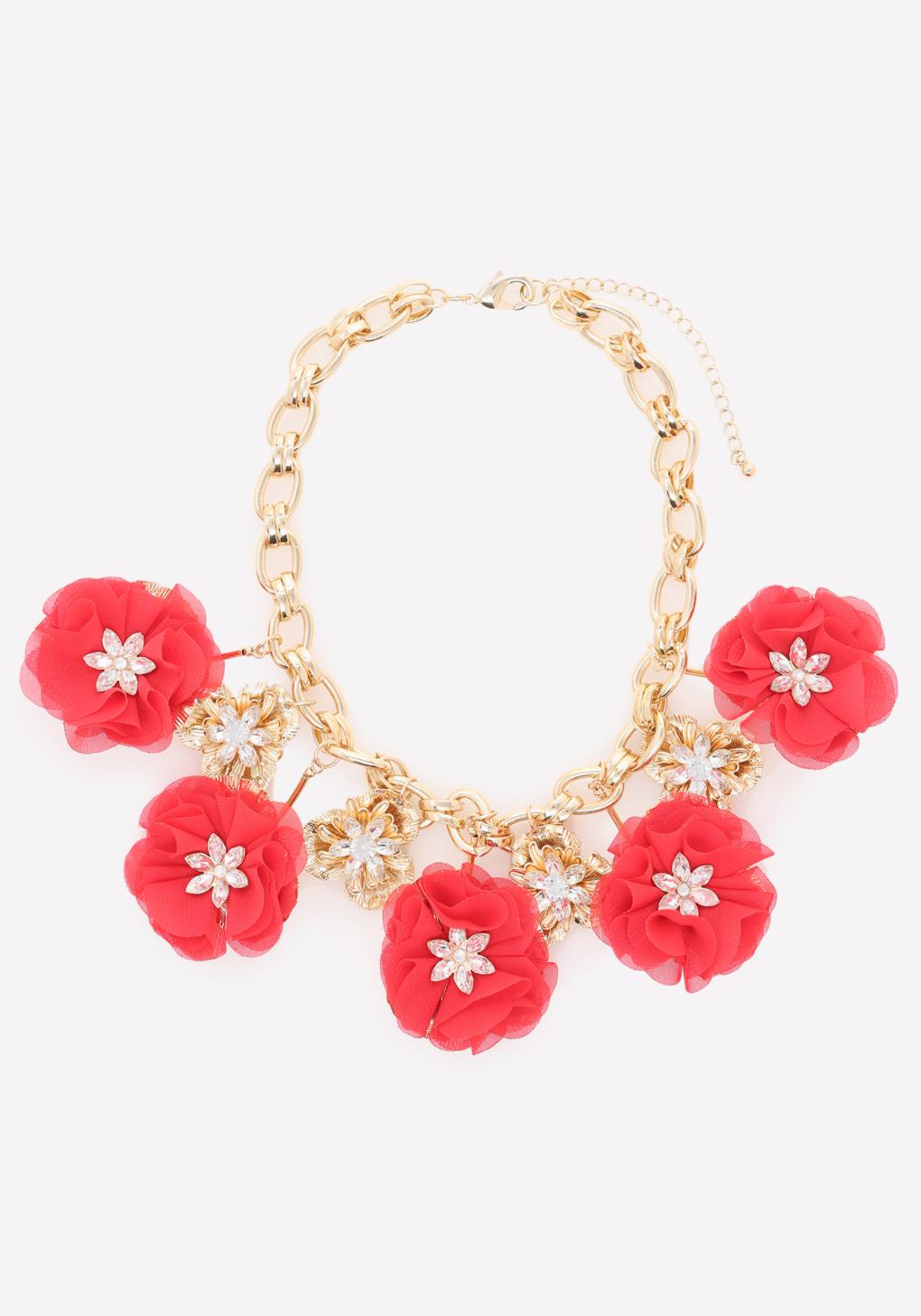 bebe poppy necklace in metallic lyst