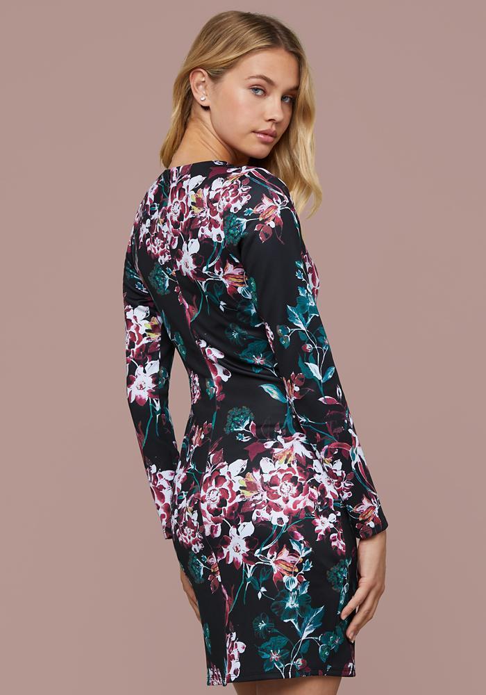 adf98e18820 Bebe Rae Print Scuba Mini Dress in Blue - Lyst