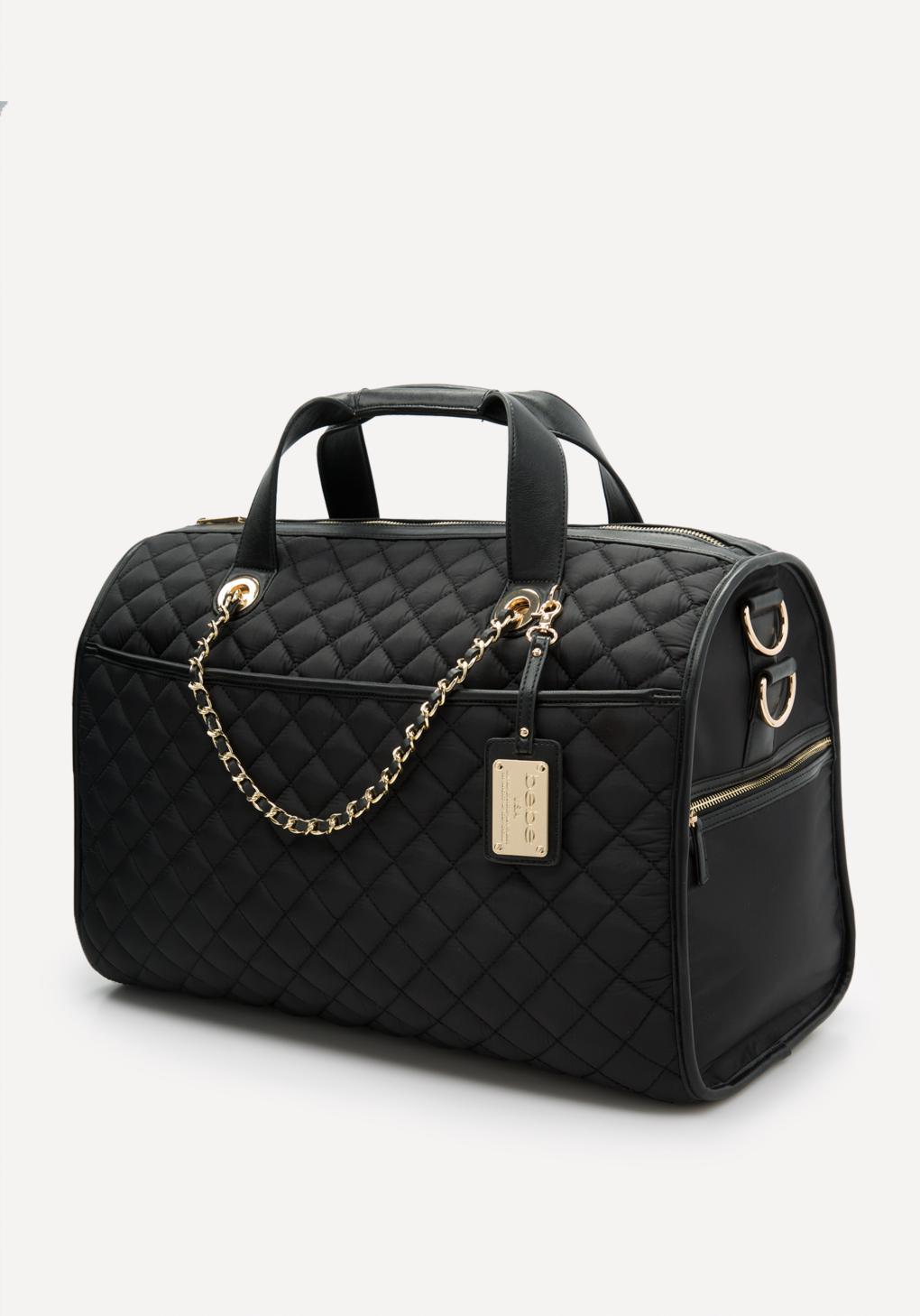 Bebe Quilted Weekender Bag In Black Lyst