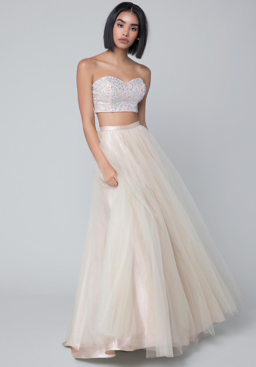Lyst - Bebe Embellished 2-piece Gown