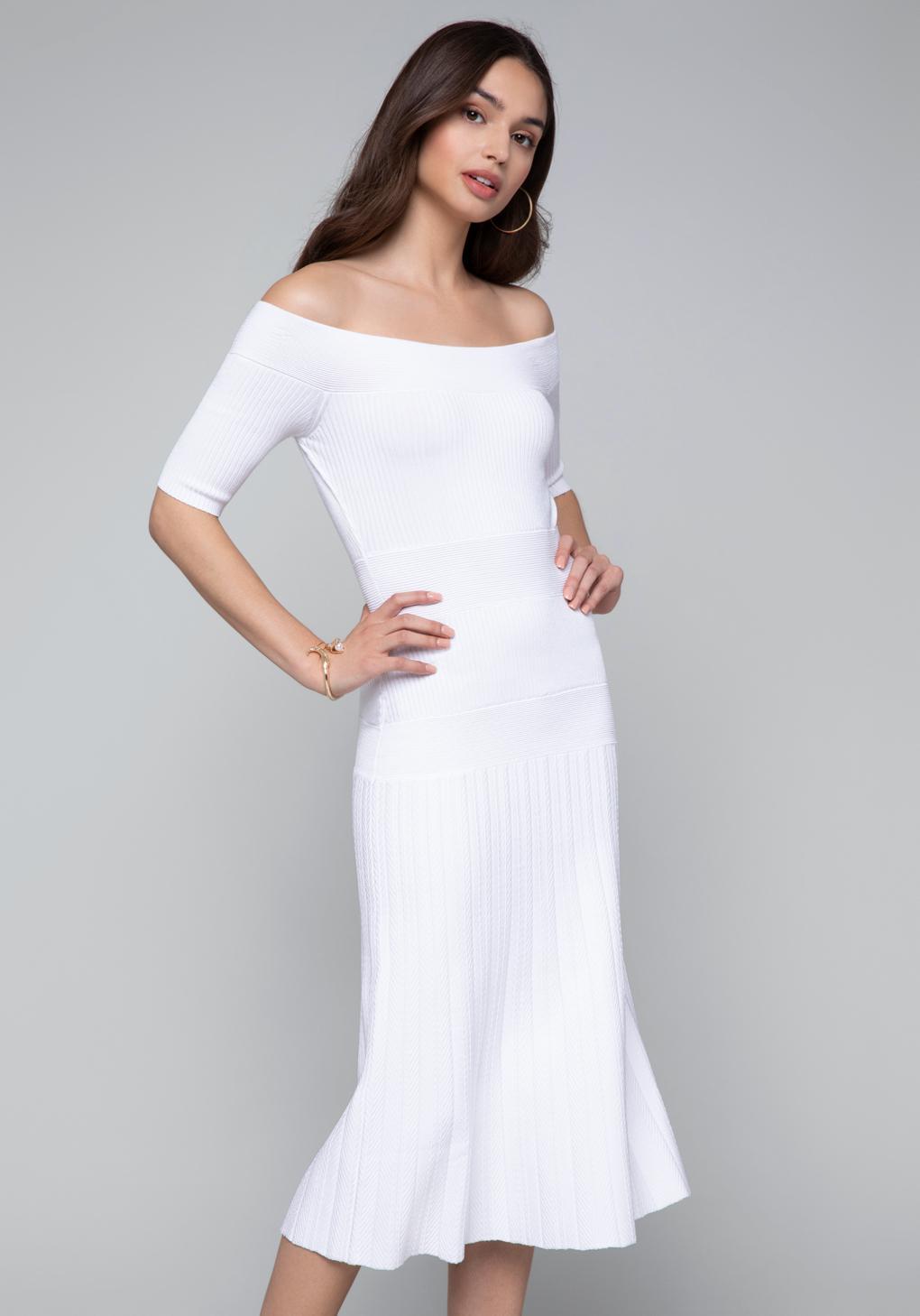 0bbc915ab8f7 Lyst - Bebe Tatiana Dress in White