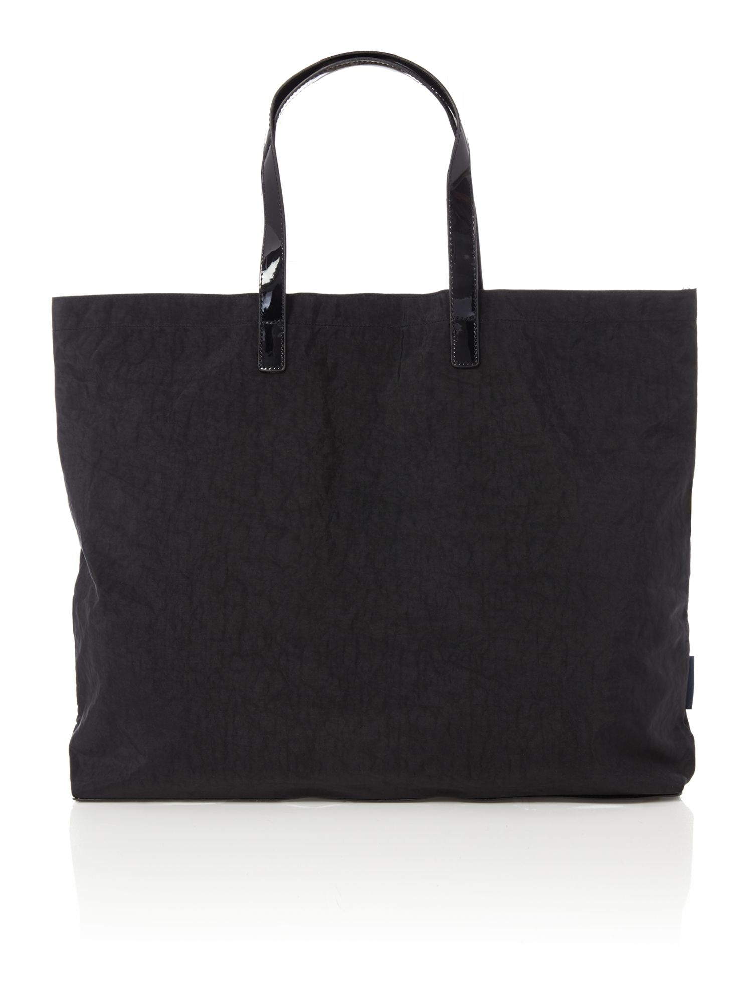 Armani jeans Nylon And Patent Black Fold Up Tote Bag in ...