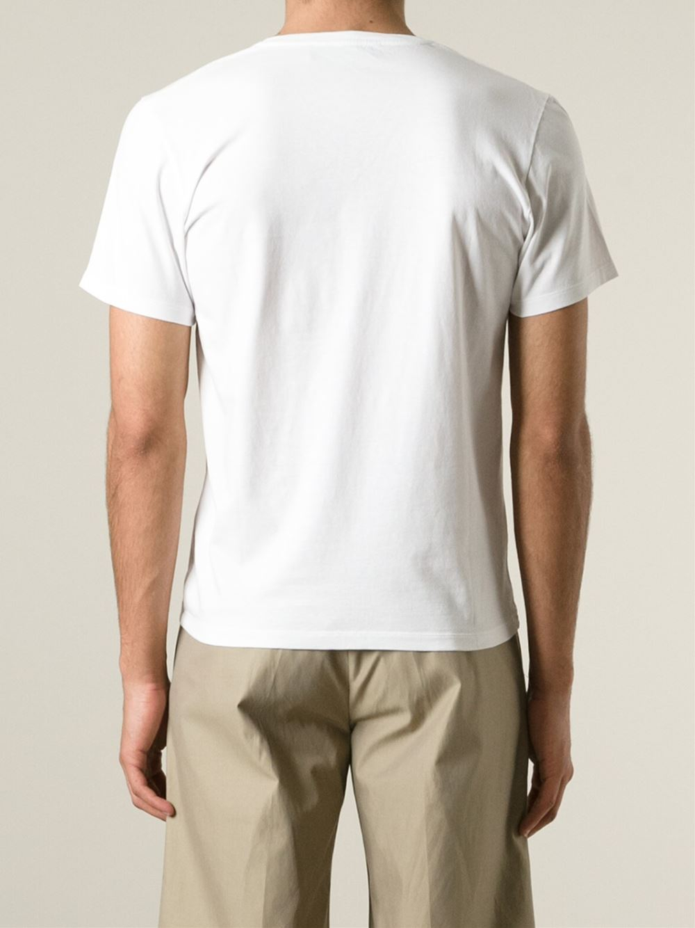 etro crab print t shirt in white for men lyst