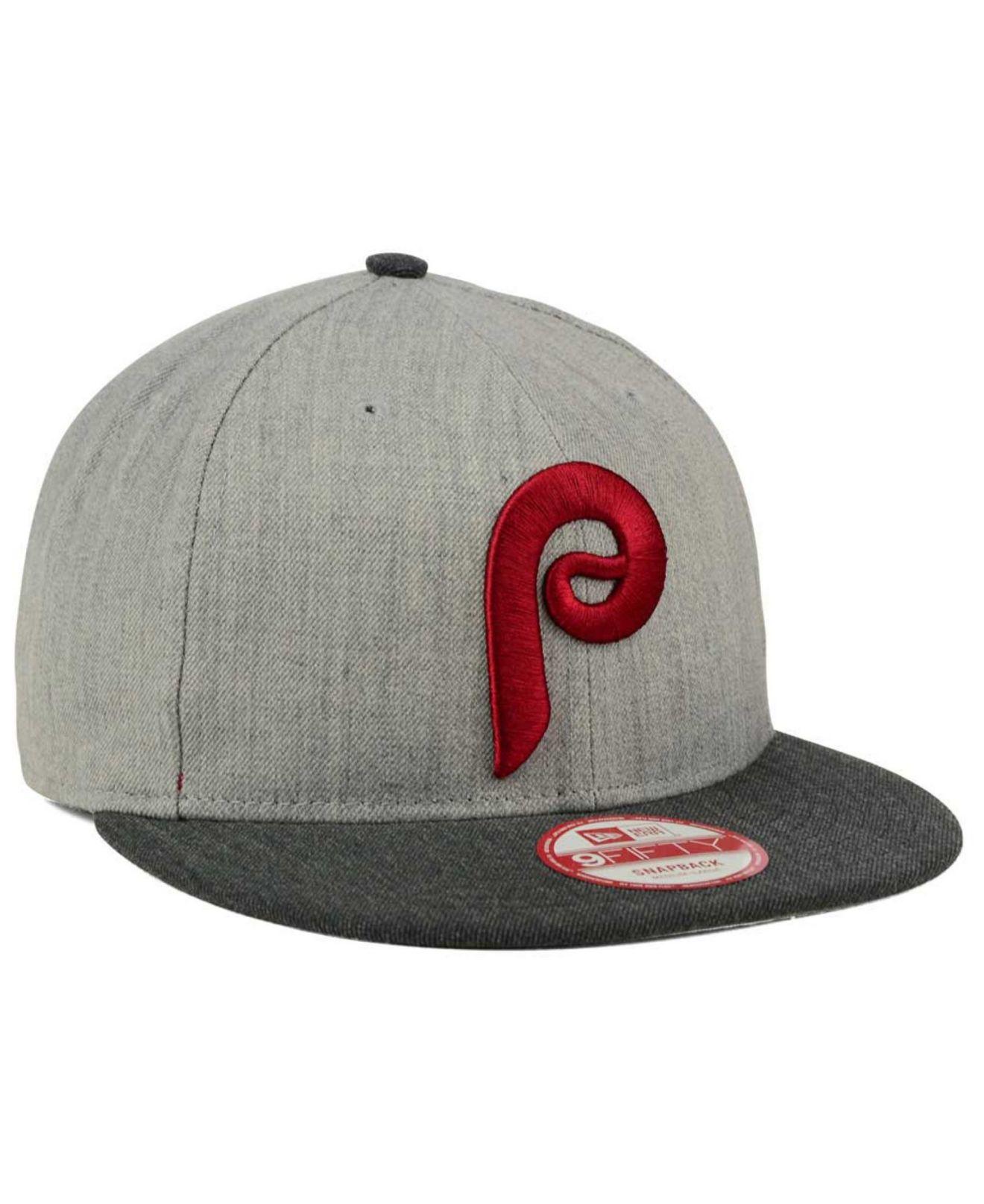 fcbecbf0bc0d3 KTZ Philadelphia Phillies Heather Action 9fifty Snapback Cap in Gray ...