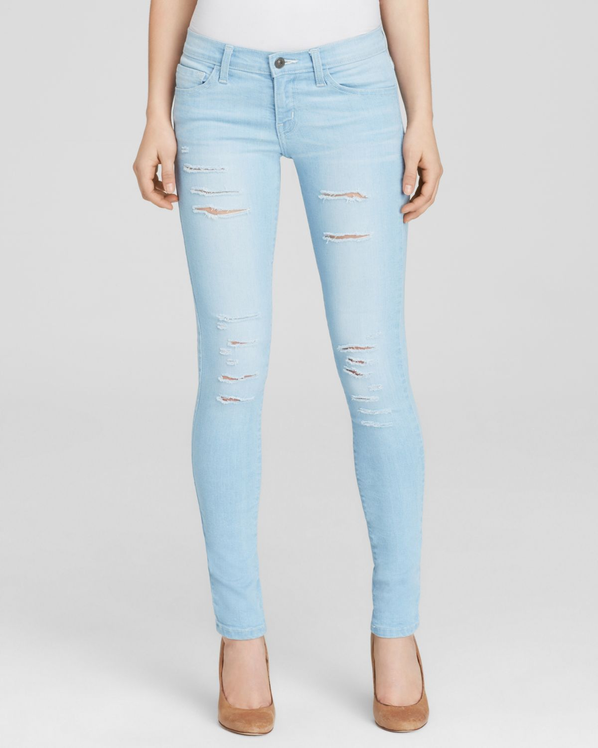Flying monkey Jeans - Distressed Skinny In Light Wash in Blue | Lyst