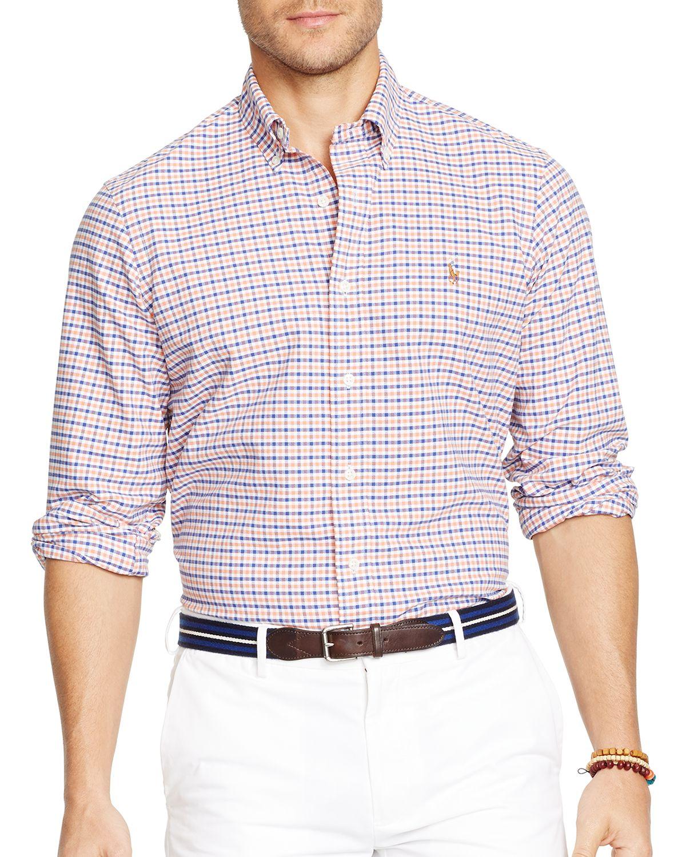 ee067dbb4 Polo Ralph Lauren Checked Oxford Button Down Shirt Slim Fit