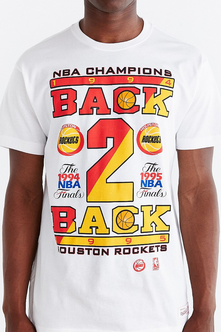 Lyst - Mitchell   Ness Houston Rockets Back-2-back Champs Tee in ... 388ccc7e0f5b