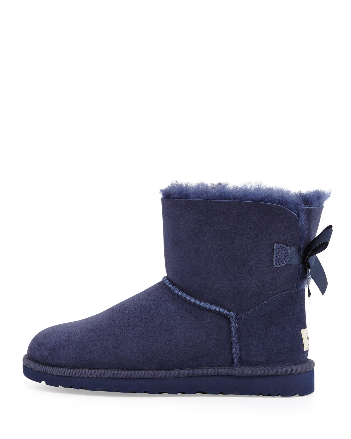 lyst ugg mini bailey bow back boot in blue. Black Bedroom Furniture Sets. Home Design Ideas