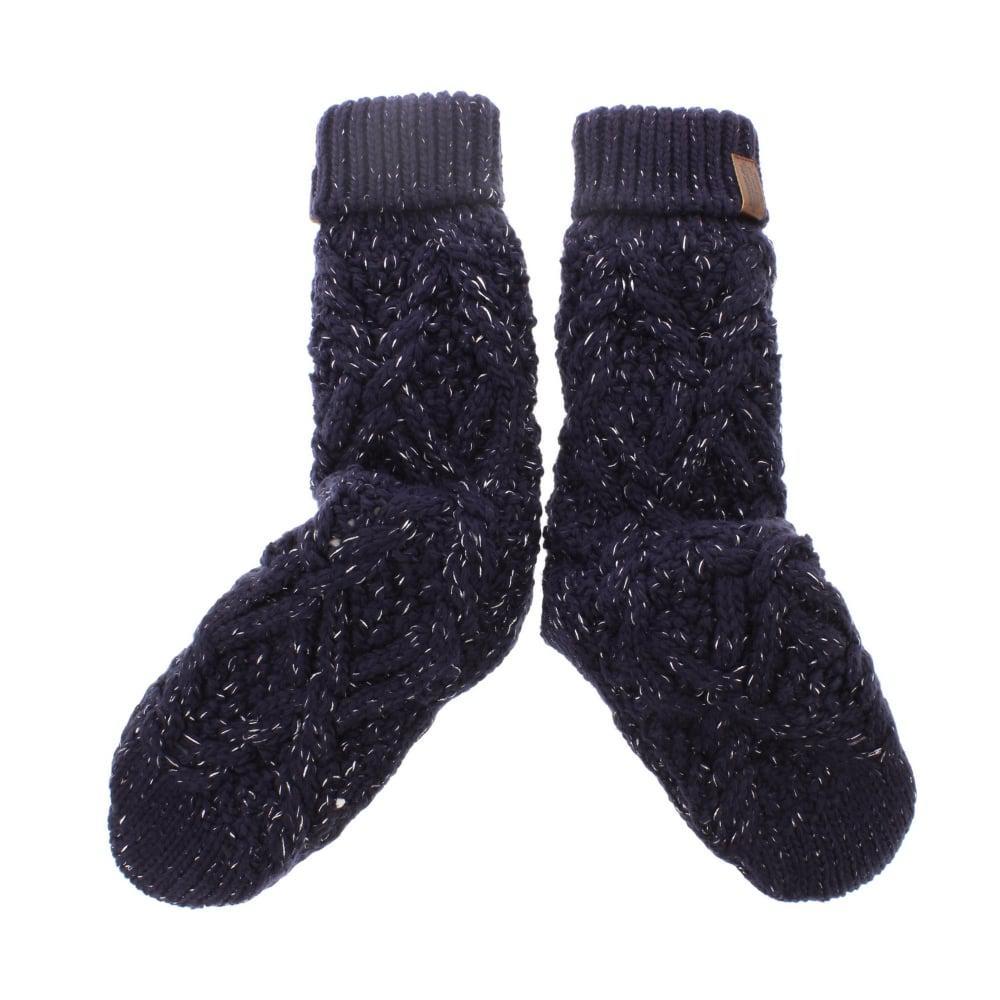 Lyst - Superdry Nebraska Cable Slipper Socks In Blue For Men