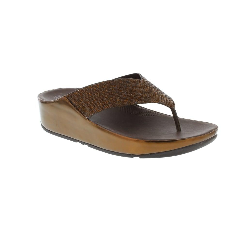 Lyst Fitflop Crystall In Brown