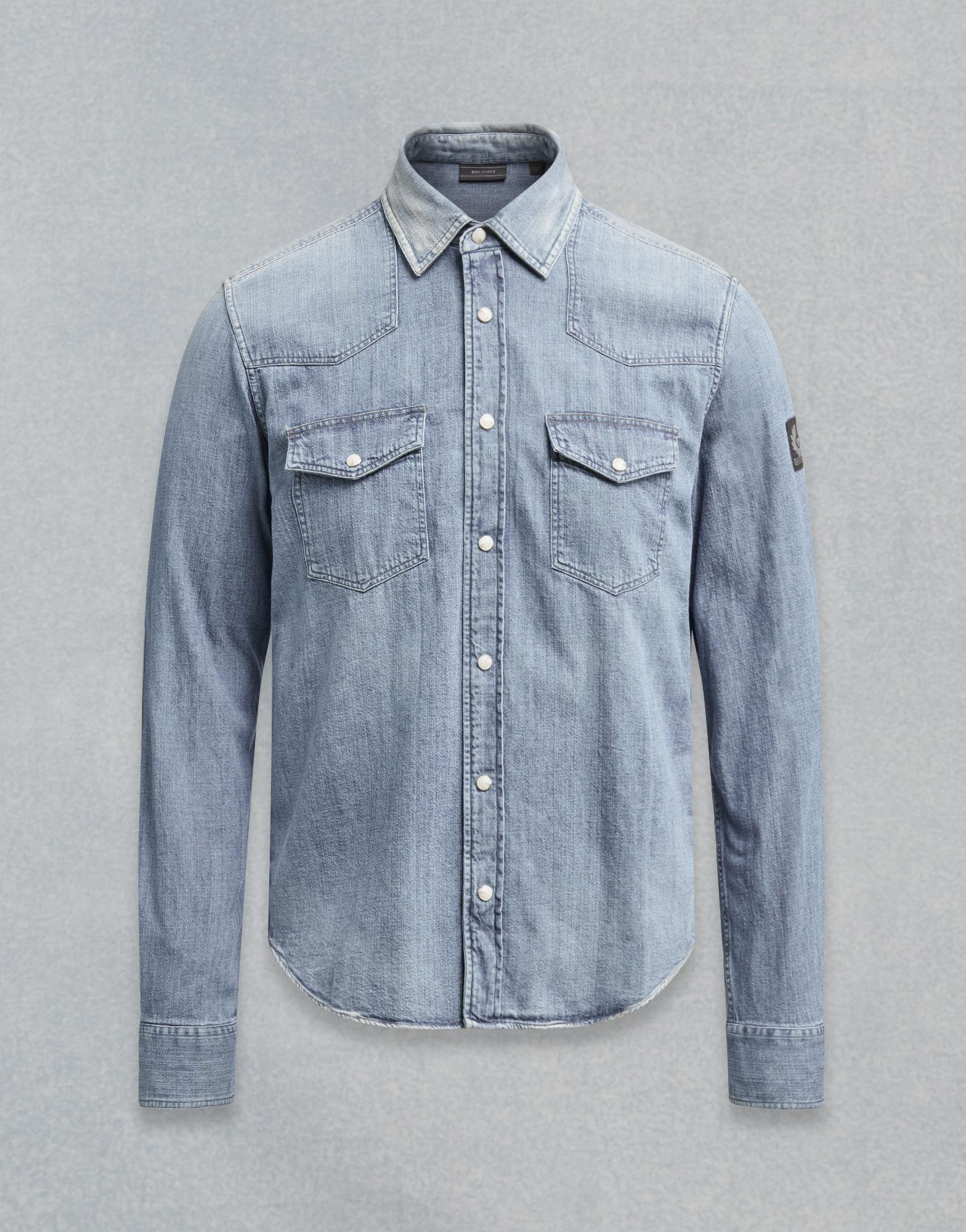 48ce68c258d Belstaff Somerford Shirt in Blue for Men - Lyst