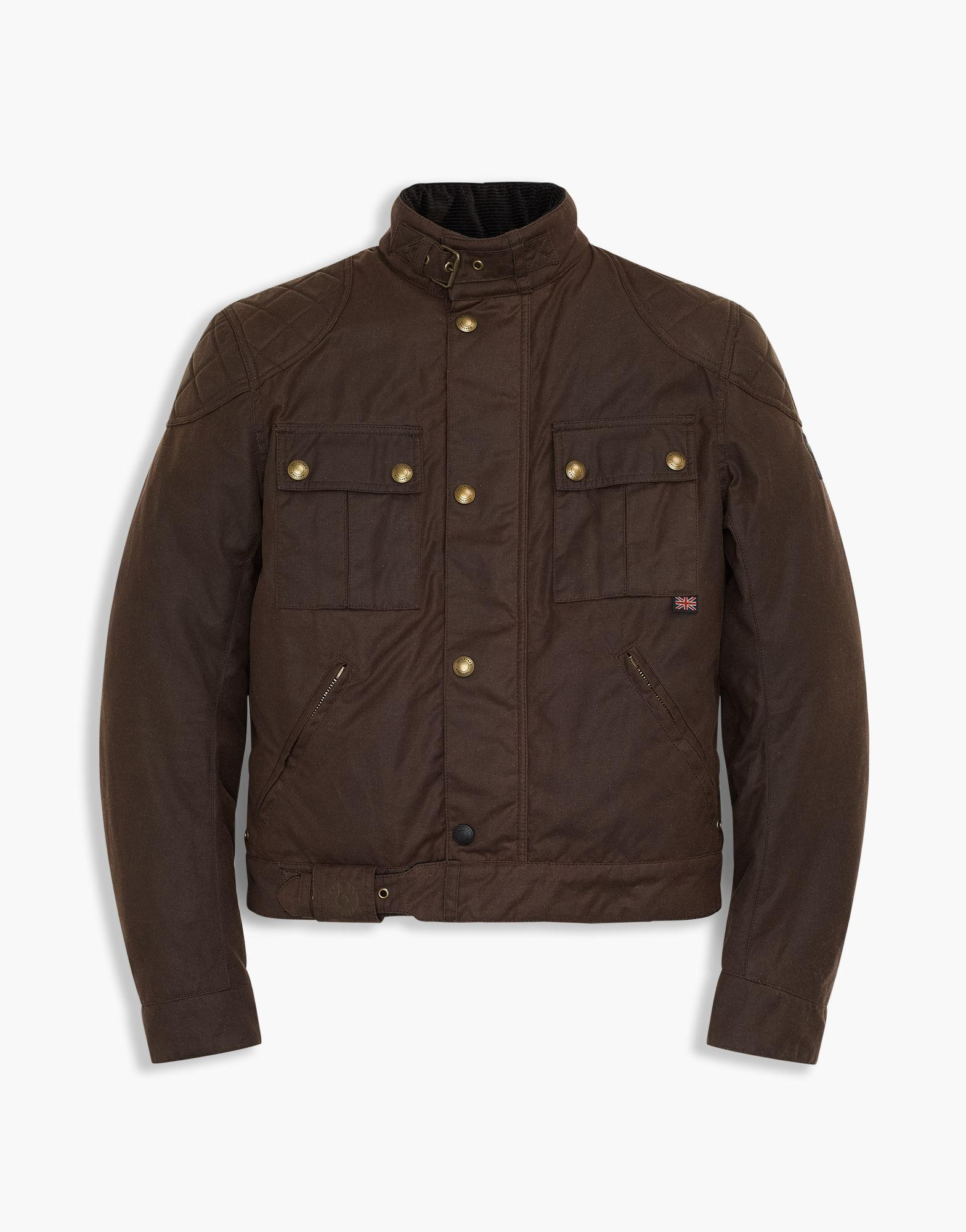 Belstaff Brooklands Blouson In Mahogany Antique 8 Wax
