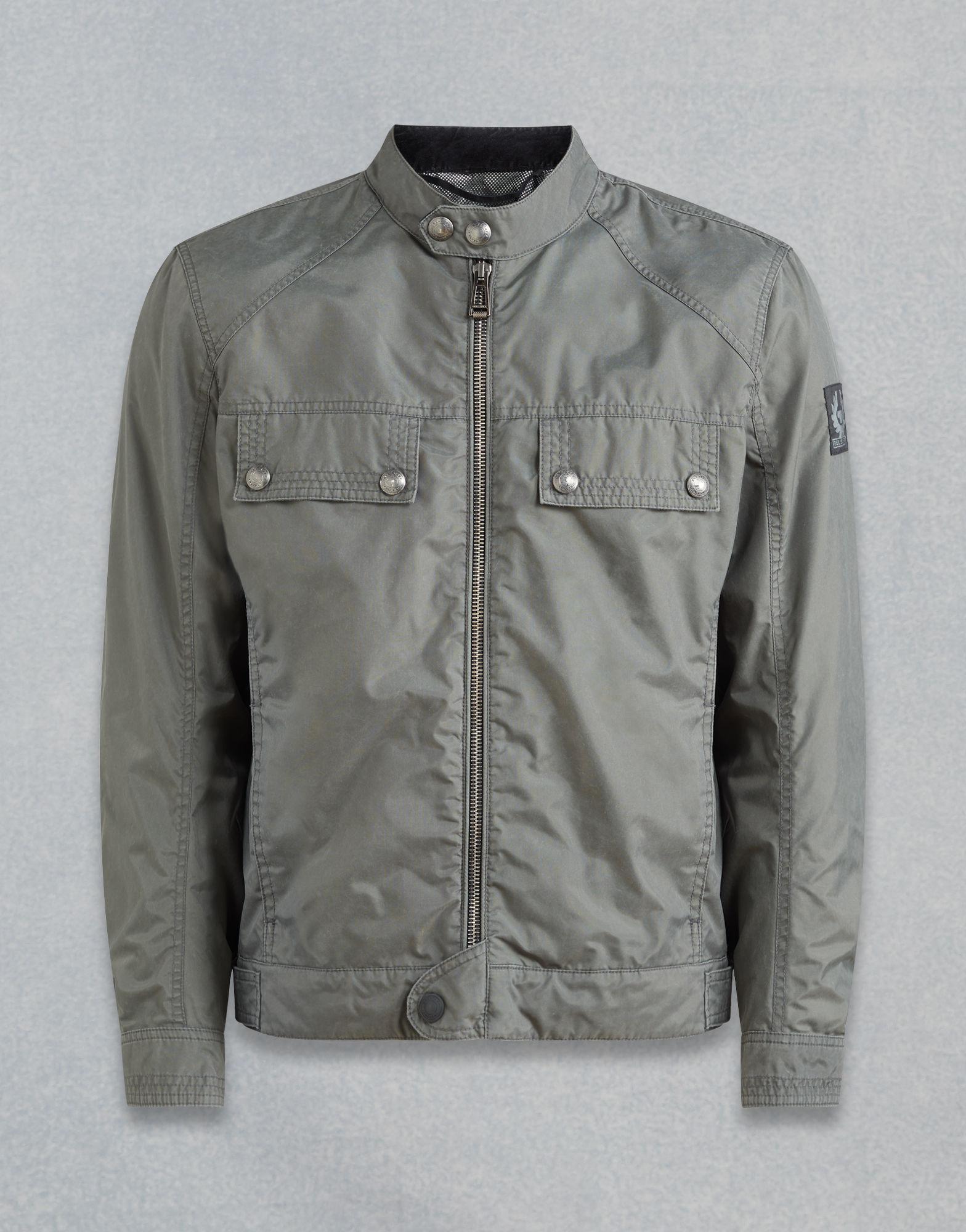 e73c10822d5f Belstaff Kavanagh Motorcycle Jacket in Gray for Men - Lyst