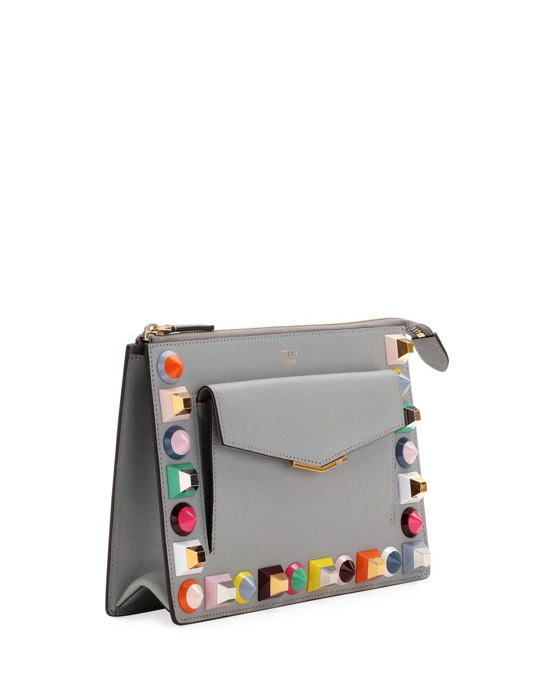... italy lyst fendi mini studded crossbody pouch bag e52df a0b2e ... 1588421d40fa1