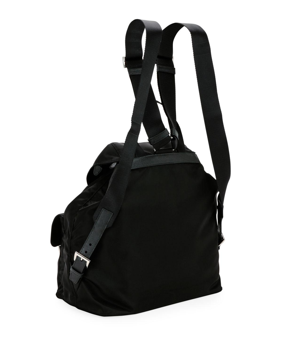 d108d8ce1e08 Lyst - Prada Nylon Backpack With Graphic Appliqués in Black