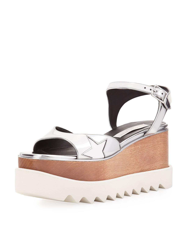 3392f71e4e6 Lyst - Stella McCartney Star Wooden-platform Sandal