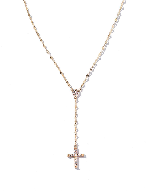 Lana Jewelry Crossary 14K Yellow Gold Necklace with Diamonds wW8ApTL