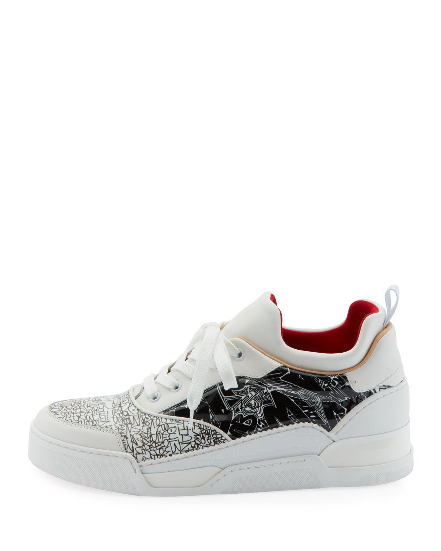 df396dc228eda Lyst - Christian Louboutin Men s Aurelien Multimedia Low-top Sneakers in  White for Men