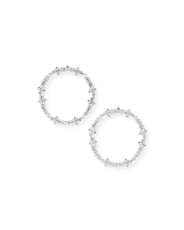 Fallon Cheekbone Pavé Crystal Hoop Earrings 3vsNEHv7Qq