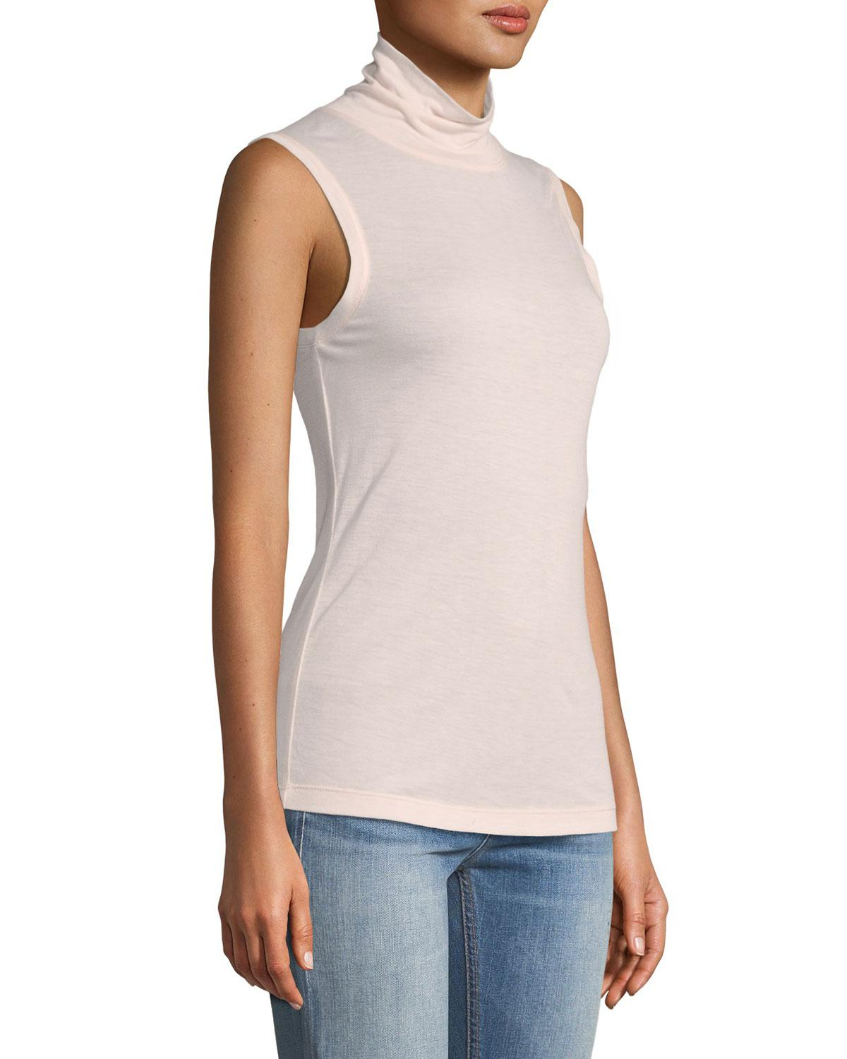 b20eb542dcafb Rag   Bone - Pink Briony Sleeveless Turtleneck Top - Lyst. View fullscreen