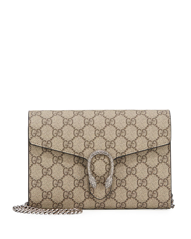 fc6146a92e1 Gucci Dionysus GG Supreme Mini Chain Bag - Save 19% - Lyst