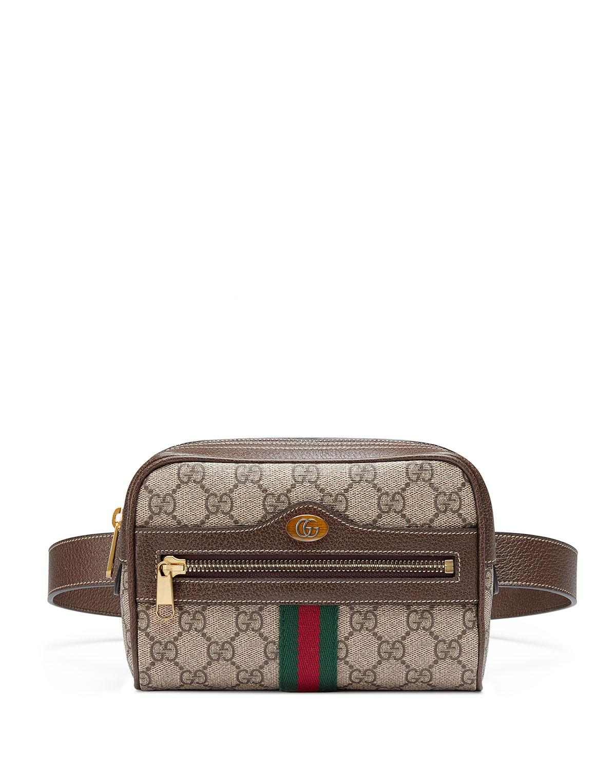 96361a2f4 Gucci Small Ophidia Gg Supreme Canvas Belt Bag in Natural - Lyst