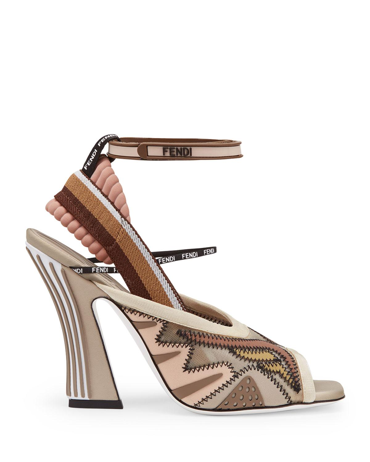 13eecd9b5e79 Fendi - Natural Freedom Ff Patchwork Sandals - Lyst. View fullscreen