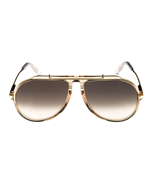 ed8cecb0a Céline Gradient Acetate & Metal Aviator Sunglasses - Lyst