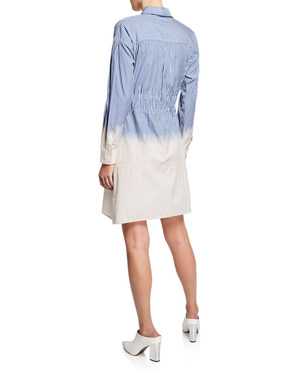 de72359cce Lyst - 10 Crosby Derek Lam Striped Dip-dye Cotton Shirt Dress in Blue