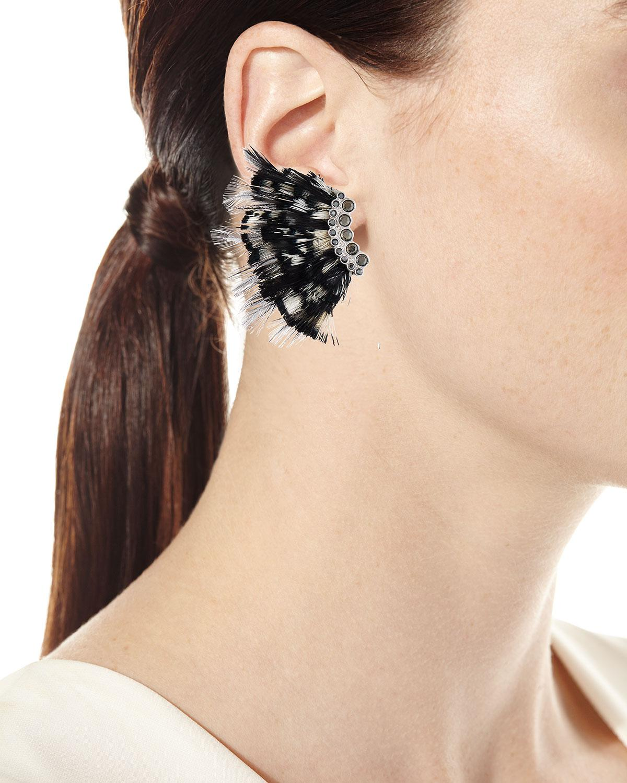 Mignonne Gavigan Lux Feather Mini Madeline Earrings 94W09vIkp