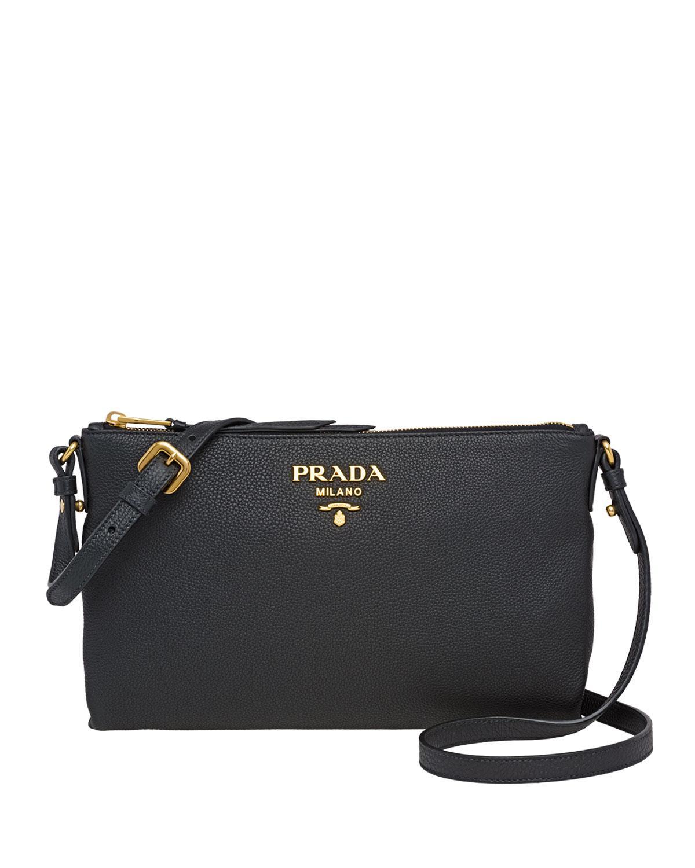 f14dba30f401 Lyst - Prada Small Daino Crossbody Bag in Black