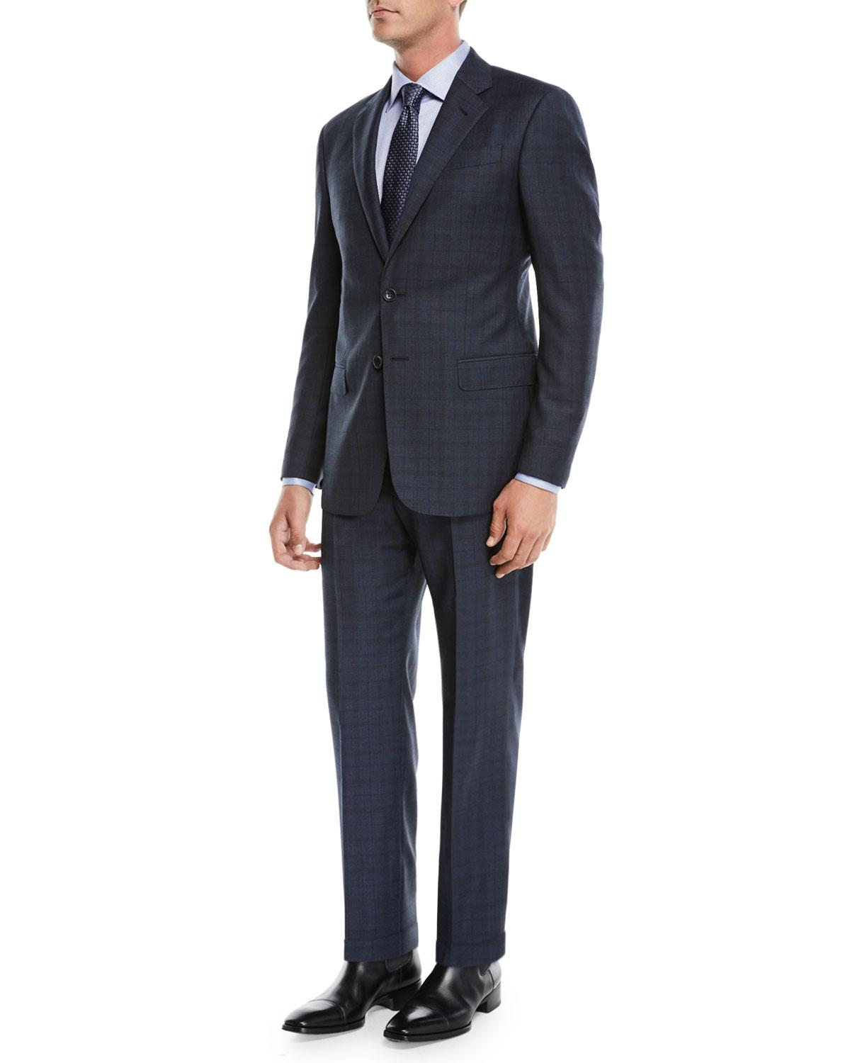 c3a50c12177 Lyst - Giorgio Armani Men s Micro-nailhead Two-piece Wool Suit in Gray for  Men