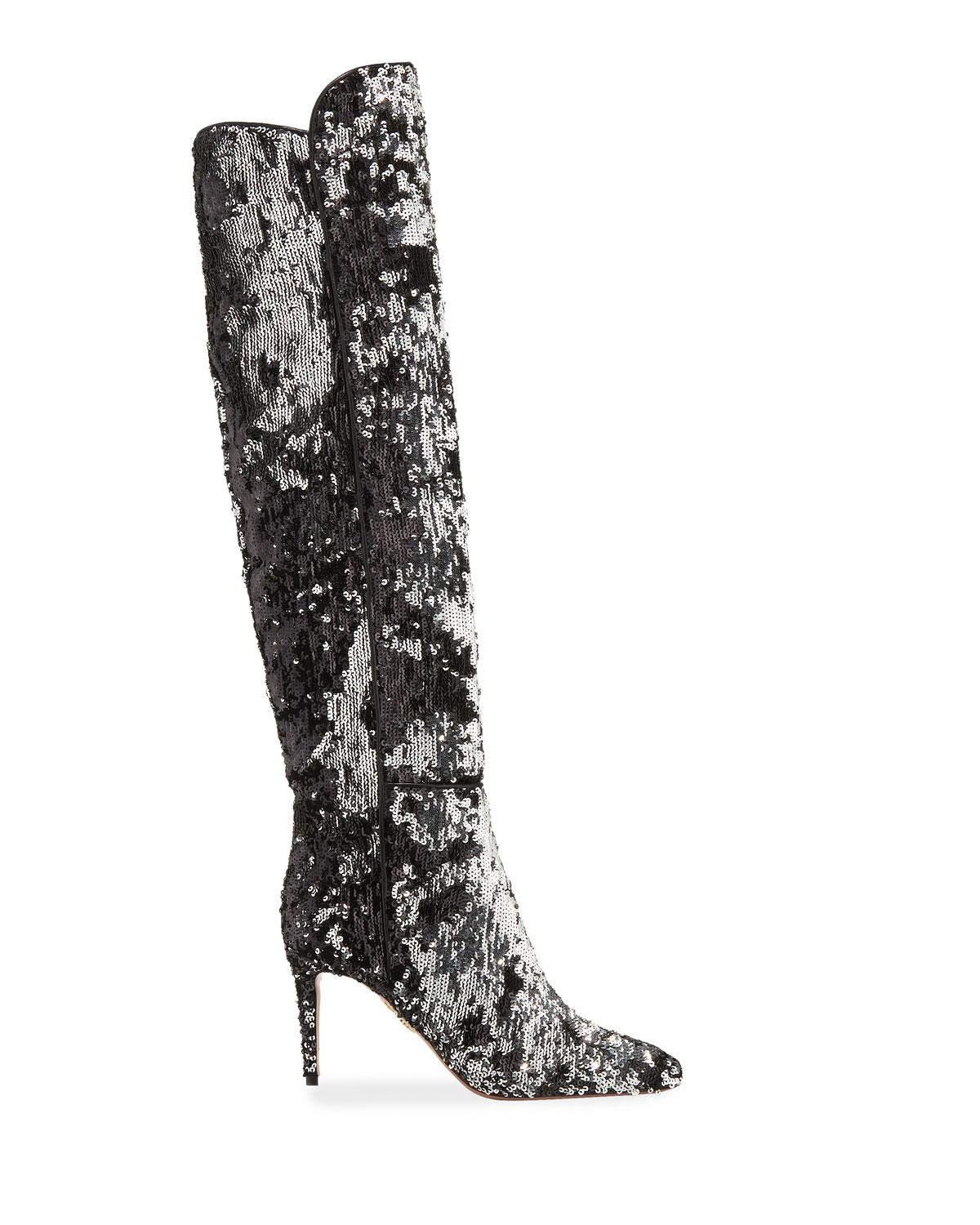 99388c37b77 Lyst - Aquazzura Gainsbourg Over-the-knee Boots in Metallic - Save 33%