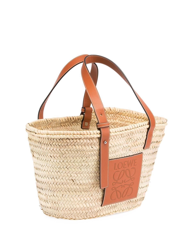 Lyst - Loewe Small Raffia Basket Tote Bag in Brown - Save 13% 9179430a51621