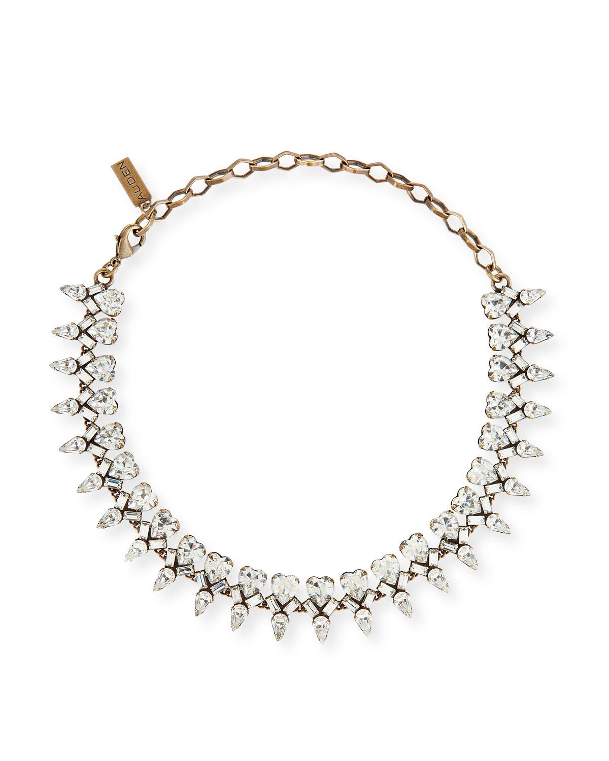 Auden Arya Crystal Lariat Necklace