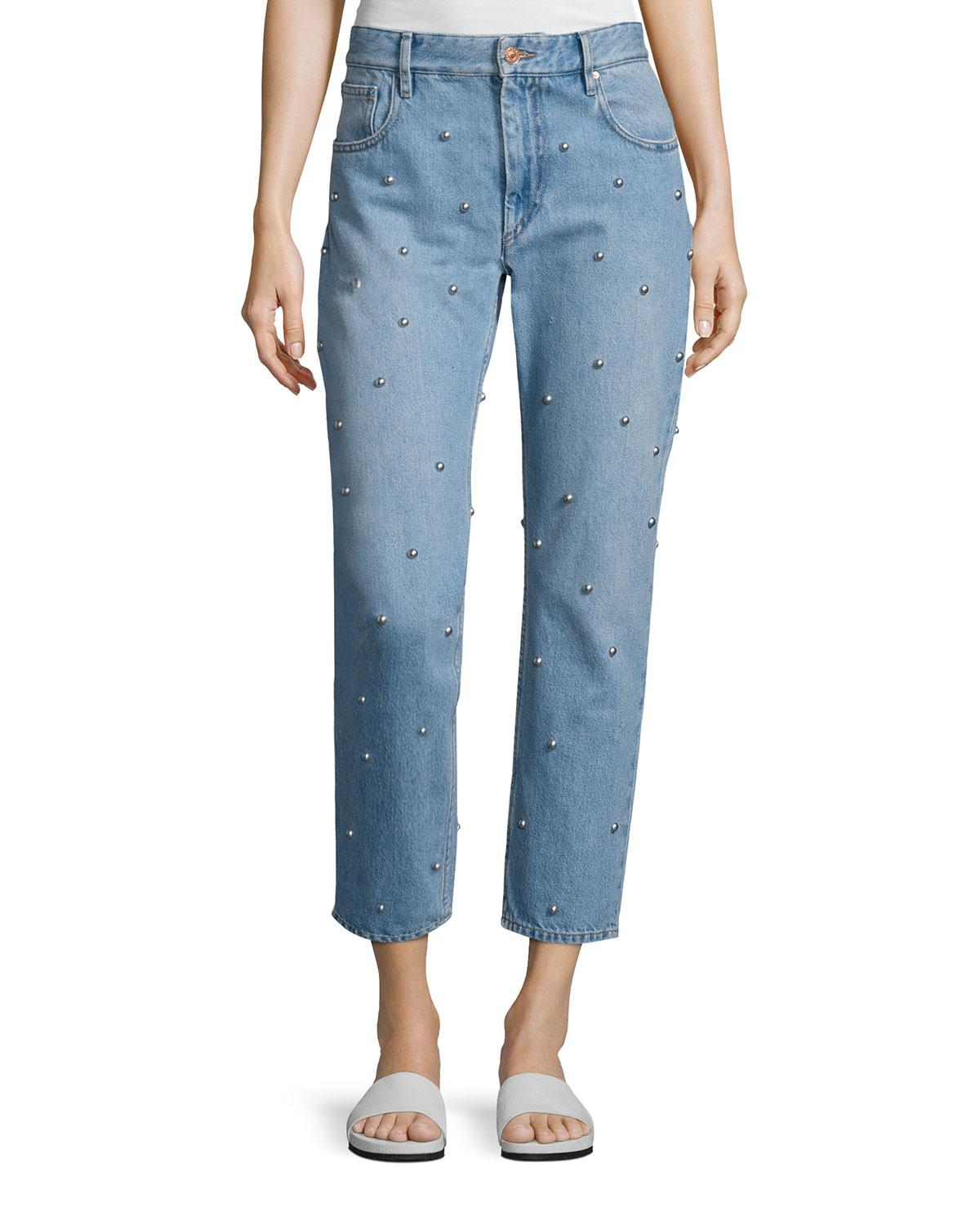 Califfy embellished jeans Isabel Marant Outlet Reliable Sale Get To Buy Free Shipping Pictures Big Discount For Sale 3gfyo2mpP