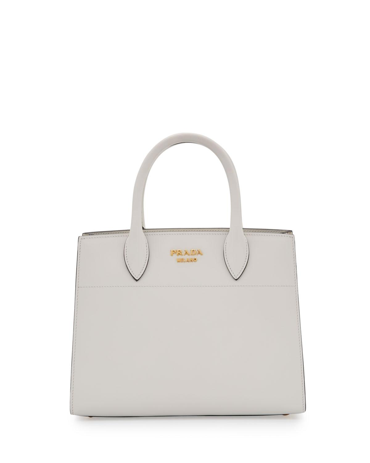 d536a8a66167 Lyst - Prada City Calf + Ayers Bibliothèque Watersnake Small Tote ...