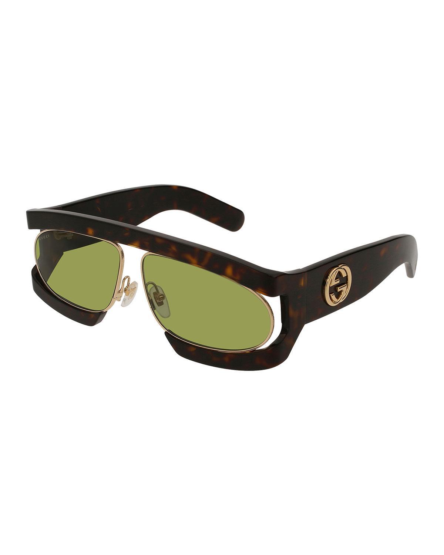 Tortoiseshell Runway Visor Sunglasses Gucci 8iVv8