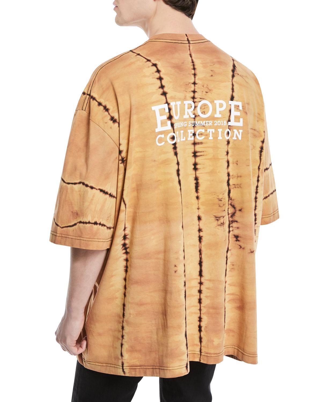 dc5b84e9a Balenciaga Think Big Graphic Tie-dye Oversized T-shirt in Black for ...