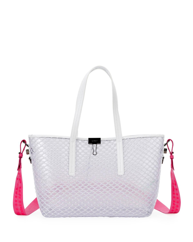 e54d55ffd Off-White c/o Virgil Abloh Pvc Net Shopper Tote Bag in White - Lyst