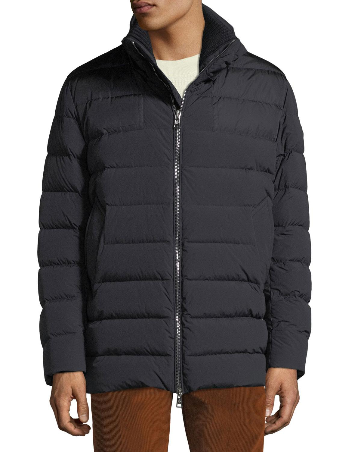 dcaaa1029 Moncler Men s Mathieu Hooded Puffer Jacket in Blue for Men - Save 6 ...