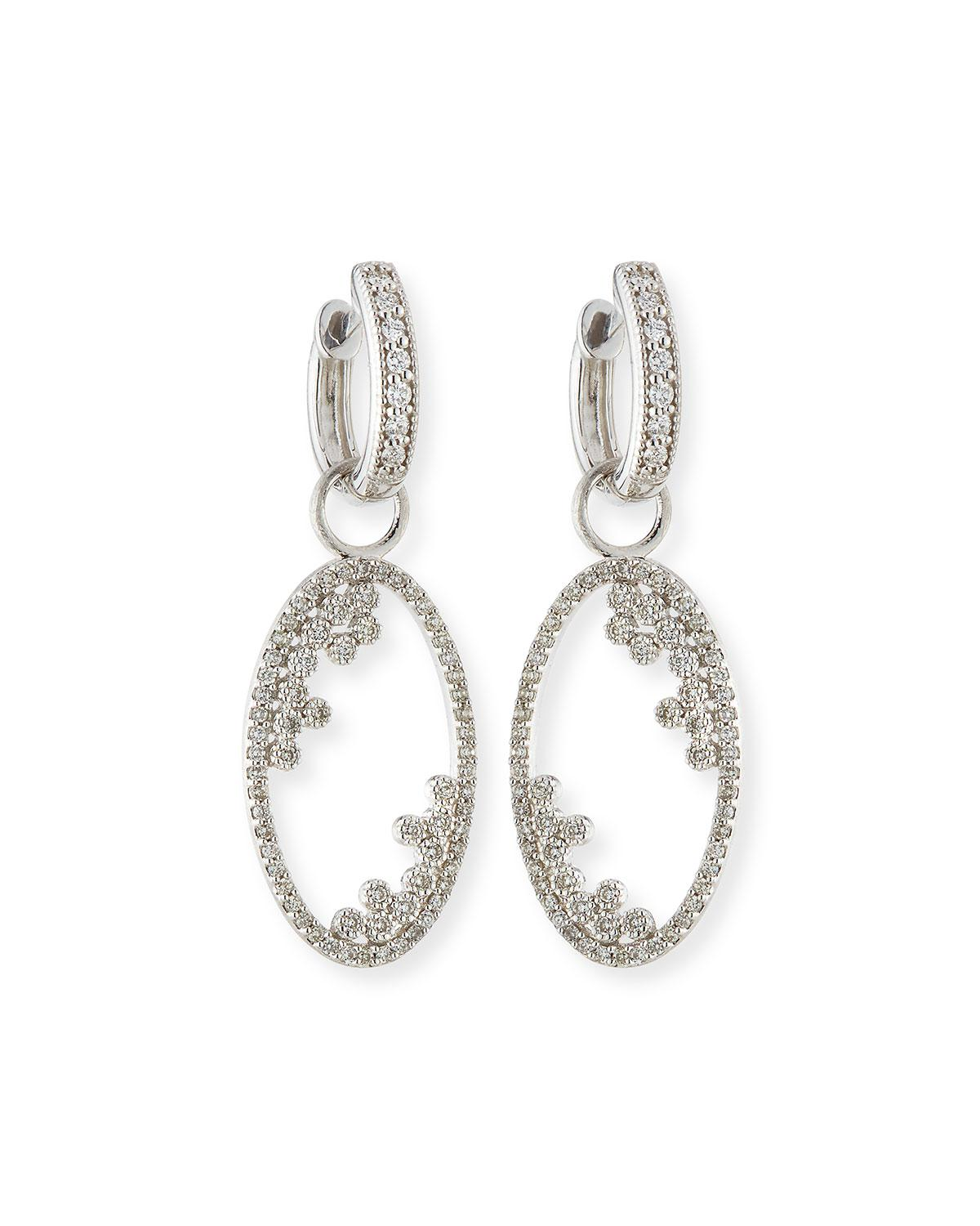 Jude Frances 18k Provence Oval Doublet Earring Charms UZH2Qplv