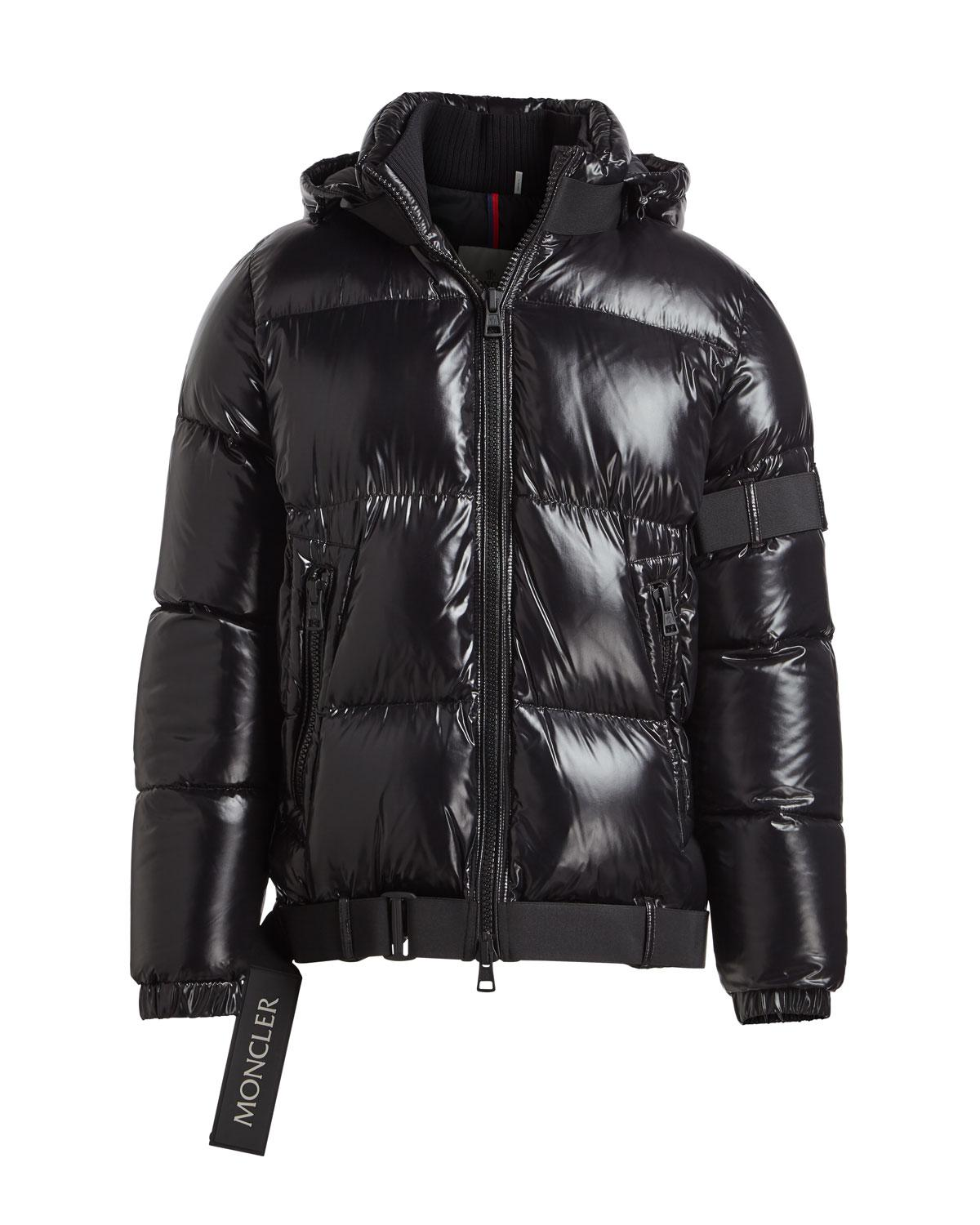315cf60a6fa8 Lyst - Moncler Brook Shiny Puffer Jacket in Black for Men