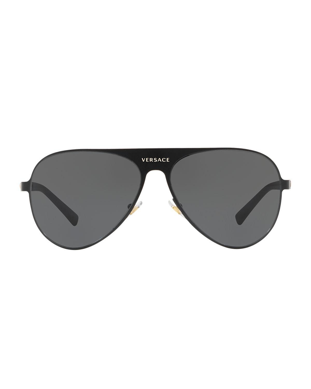 02fb3e6e229b Lyst - Versace Men s Medusa Head Aviator Sunglasses in Black for Men