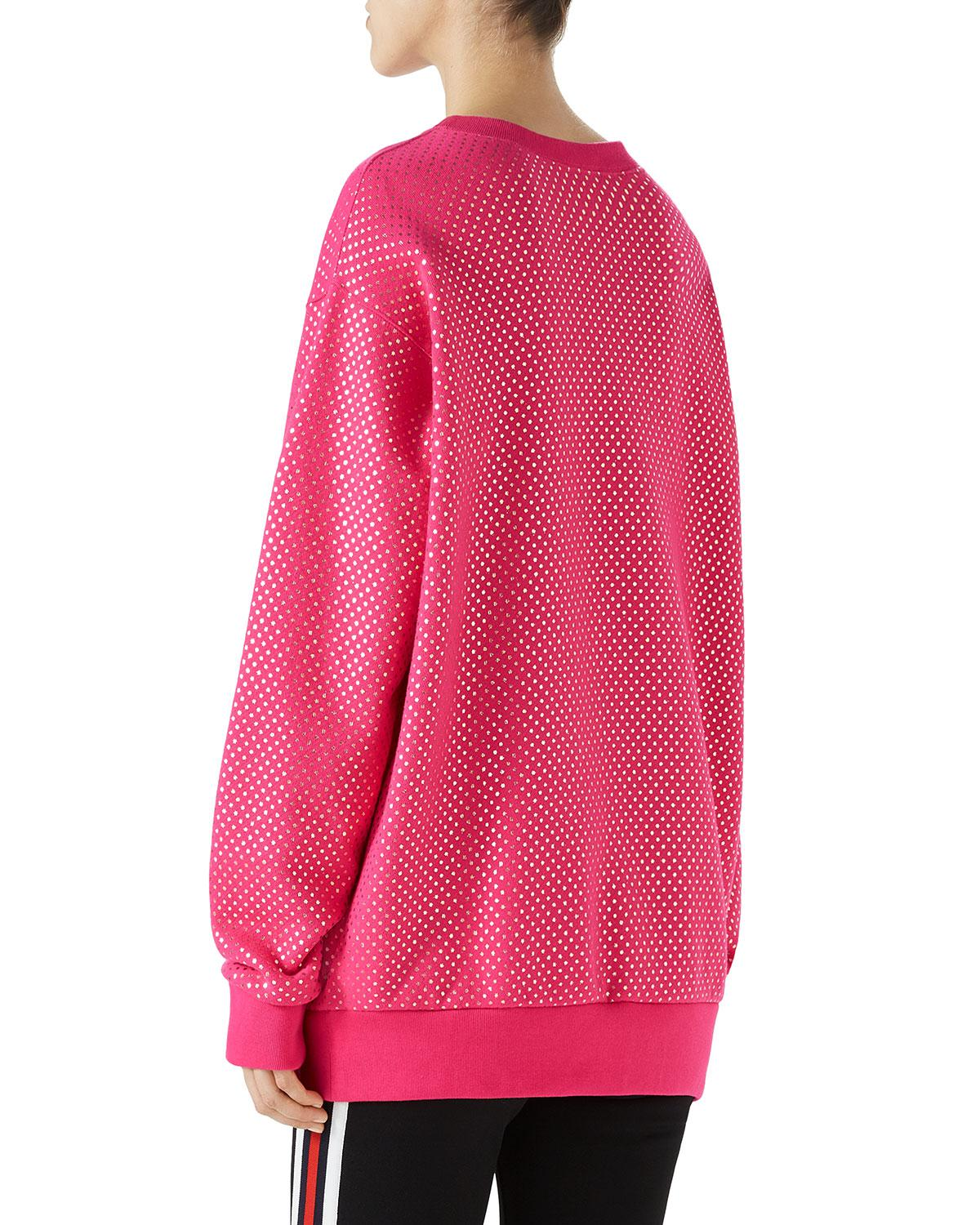 ebe919a4911f Gucci Long-sleeve Oversized Guccy Gaming Sweatshirt in Pink - Lyst