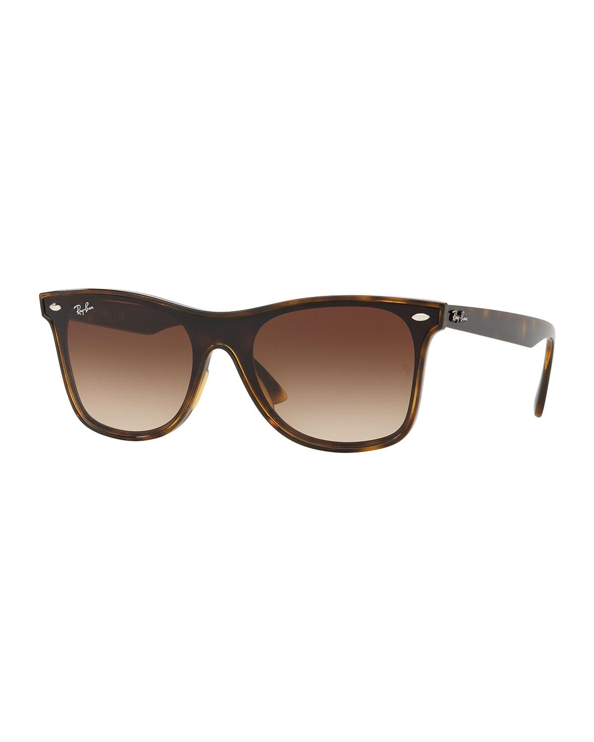 d84b6f68853 Lyst - Ray-Ban Men s Blaze Wayfarer Lens-over-frame Square Gradient ...