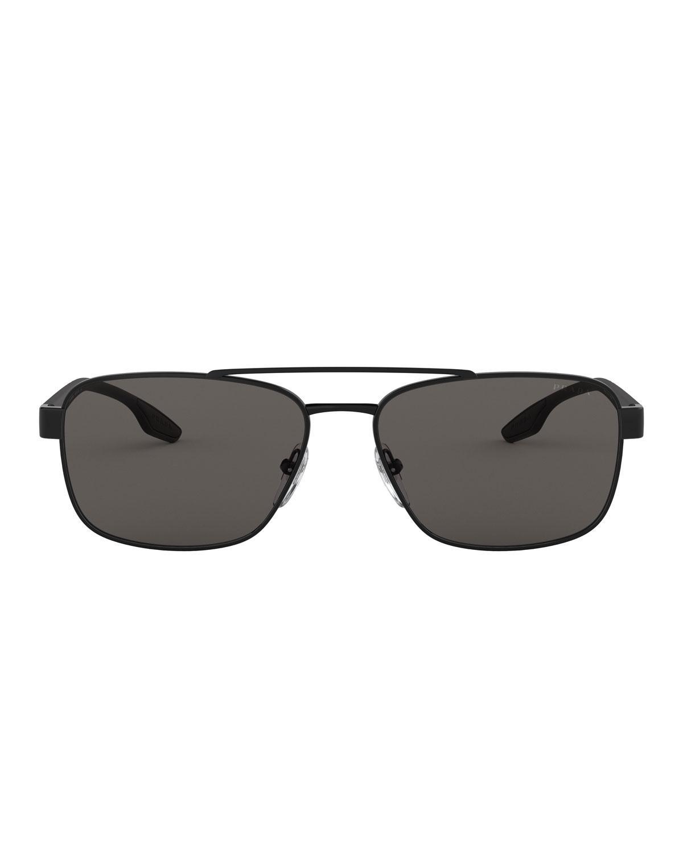 cd901de2c89d Lyst - Prada Men's 59mm Square Metal Aviator Sunglasses for Men