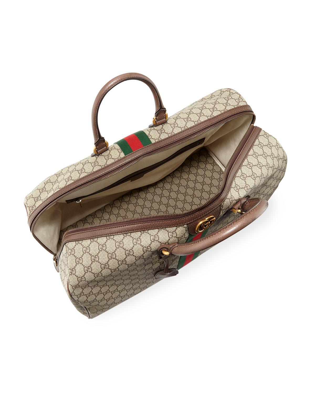 484a02791542 Gucci Men's Ophidia GG Supreme Duffel Bag in Natural - Lyst