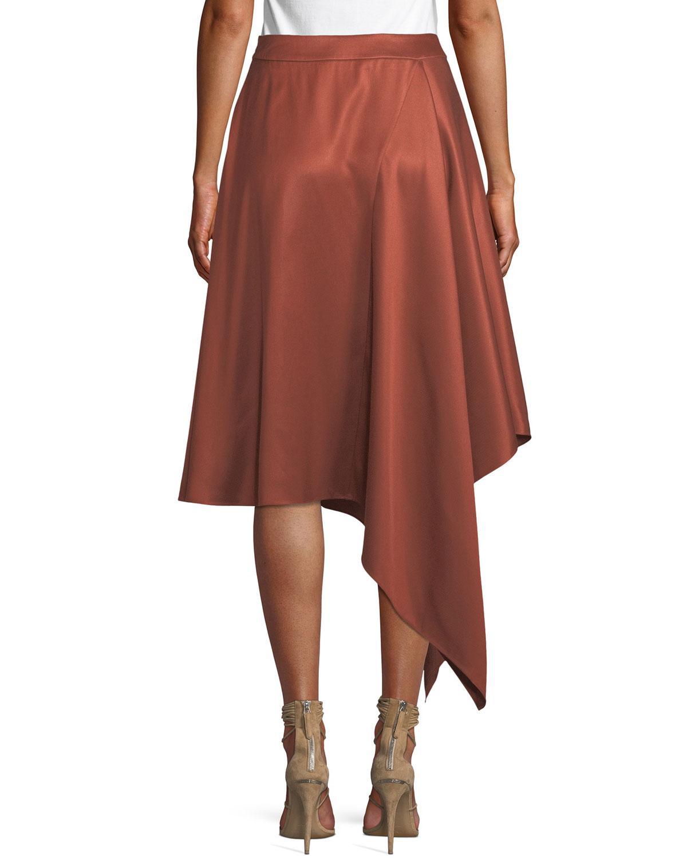 cb3df8daa Lyst - Palmer//Harding Squared Draped Asymmetric Twill Skirt in Black