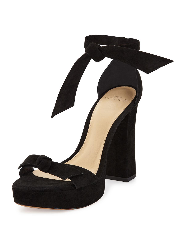 2720c937eb Alexandre Birman Mabeleh Suede 110mm Platform Sandals in Black - Lyst